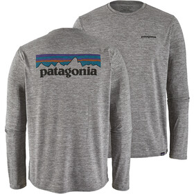 Patagonia Cap Cool Daily Graphic Long Sleeve Shirt Herre p-6 logo/feather grey